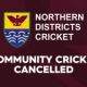 All Community Cricket Cancelled – Effective Immediately