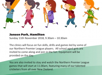 GIRLS CRICKET COACHING CLINICS